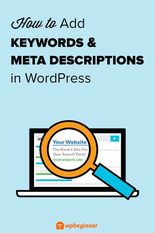 Want to improve your SEO score by adding meta keywords and d
