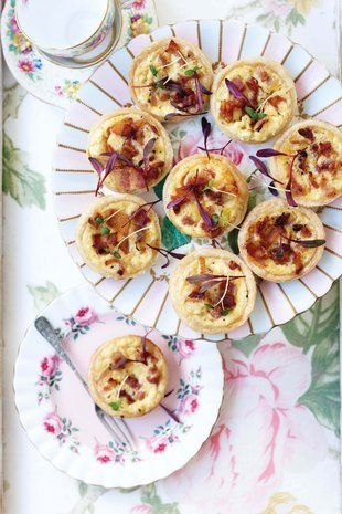 Mini-quiches Lorraine | SARIE | Mini quiches Lorraine - yummy, with the meat pies, sausage rolls, mini pasties and tomato sauce!