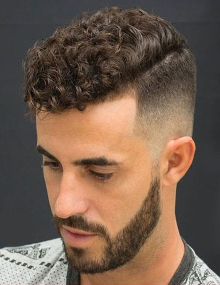 Natural Curly Mens Haircuts With Strict Fade
