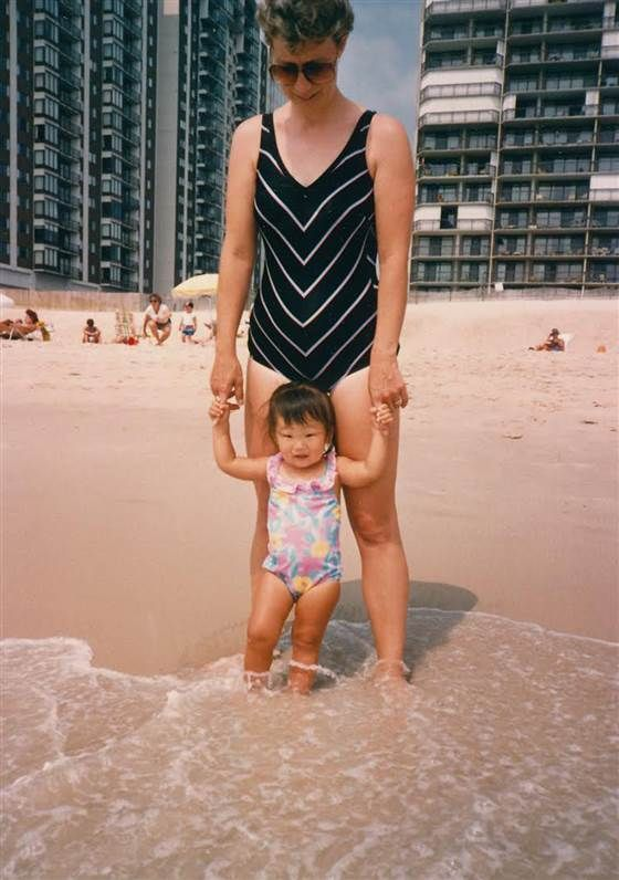 June 1987. My favorite photo of my mother and me, 2, in Ocean City, Maryland, where my family, and Mommom and Poppop, took our annual summer vacation.