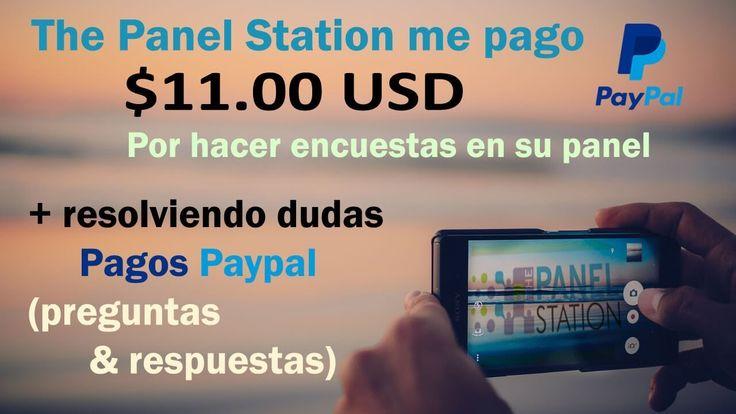 The Panel Station encuestas funciona pago de $11.00 USD (preguntas & respuestas pagos Paypal)
