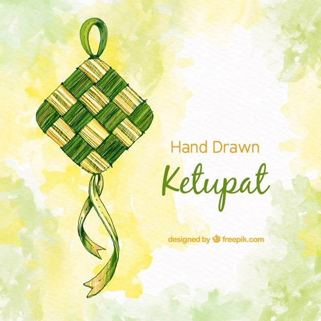Download Traditional Ketupat Background For Free Vector Free How To Draw Hands Vector Photo
