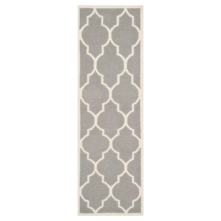 Alarice Dhurry Rug - Gray/Ivory - (2'6x12') - Safavieh
