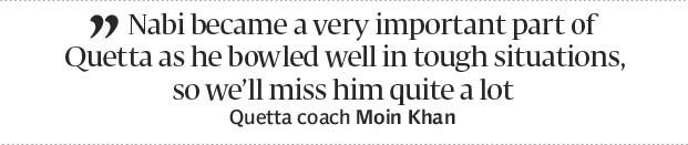 Turning out for Quetta: Nabi honoured to be part of HBL PSL - The Express Tribune