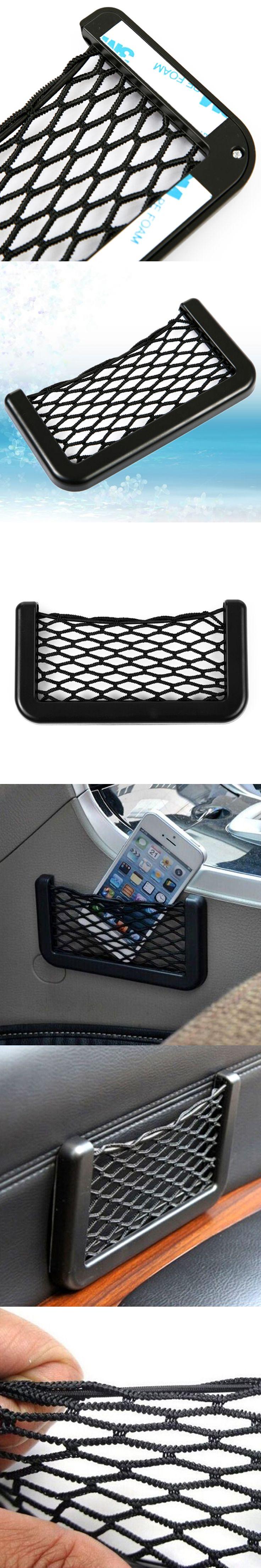 Dewtreetali Hotsale 14.5*8.5 cm Universal Auto Car Seat Back Storage Net Bag Phone Holder Pocket Organizer free shipping