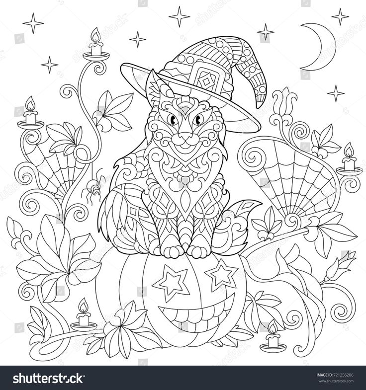Freehand Sketch Drawing For Adult Antistress Coloring Book In Zentangle Style