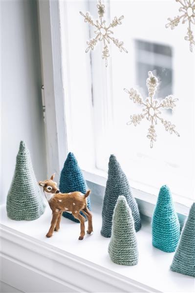 Tema 40: 31 Heklede juletre #jul #strikk #christmas #knit