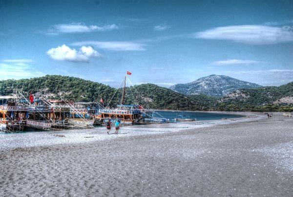 Olu Deniz beach on the Mediterranean coast of Turkey