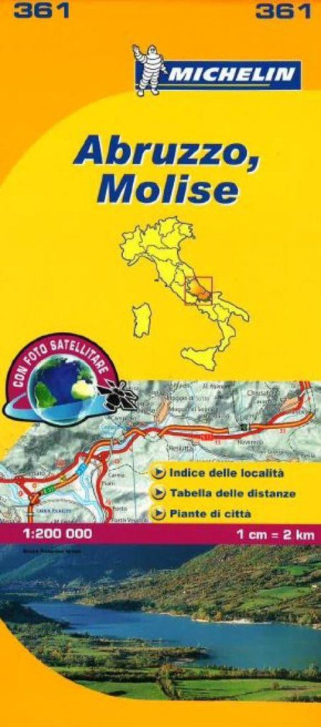 Buy map: Abruzzo and Molise, Italy (361) by Michelin Maps and Guides – YellowMaps Map Store