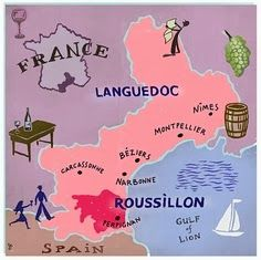 Map of Languedoc Roussillon