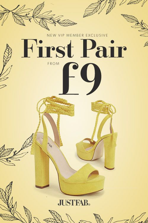 YELLOW FEVER  Buy Shoes Spring is On !
