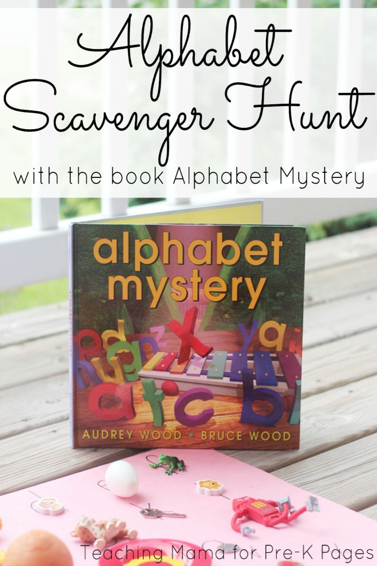 Alphabet Mystery: Alphabet Scavenger Hunt. Make learning letters and letter sounds FUN with this interactive, hands-on activity perfect for preschool and kindergarten kids!