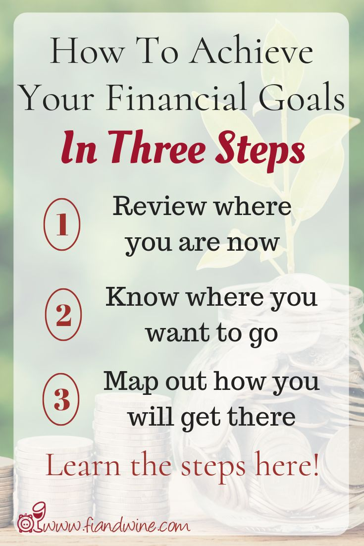 Achieve Your Financial Goals In Three Easy Steps
