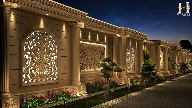 Classic Boundary Wall Design On Behance Exterior Wall