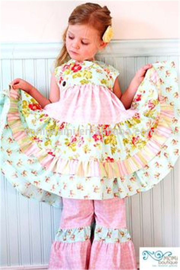 Western Girls Boutique Remake Clothing Sets 2017 Wholesale Summer Outfits Wholesale Children's Boutique Clothing