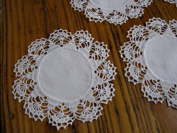 Antique Crochet Lace Cocktail Mats Antique by BeautifulPurpose