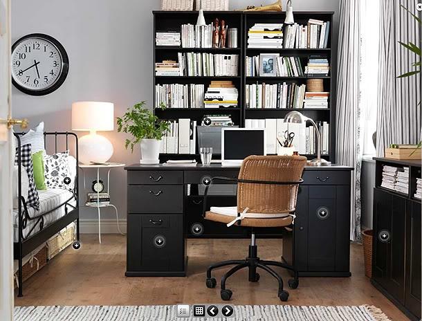 like guest bedroom/office combo Minimalist decor Pinterest