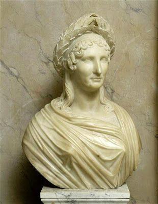 Lorenzo Bartolini : Laetitia Bonaparte. Marbre.