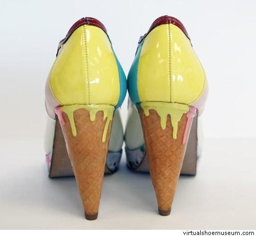 Steve Apeah's ice cream shoes, winner of the Award for the Crazy Shoe 2011 in Vienna. Yummy ^^