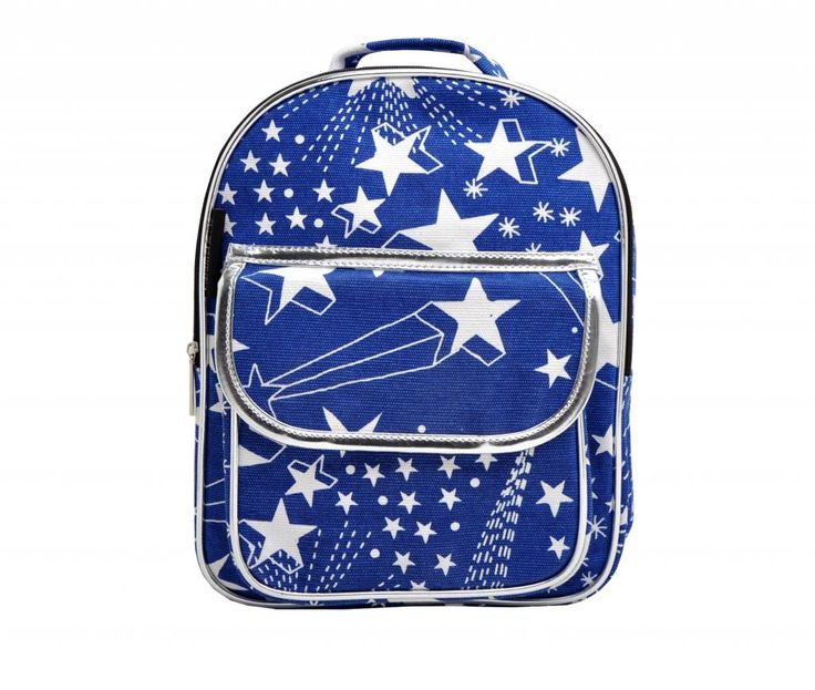 Prachtige, blauwe rugtas met sterren ✘ Leuk voor jongens die houden van een vrolijke en speelse tas ✘extra voorvak met velcrosluiting