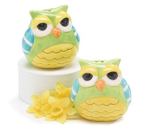 Whimsical Owl Salt And Pepper Shakers Adorable Kitchen