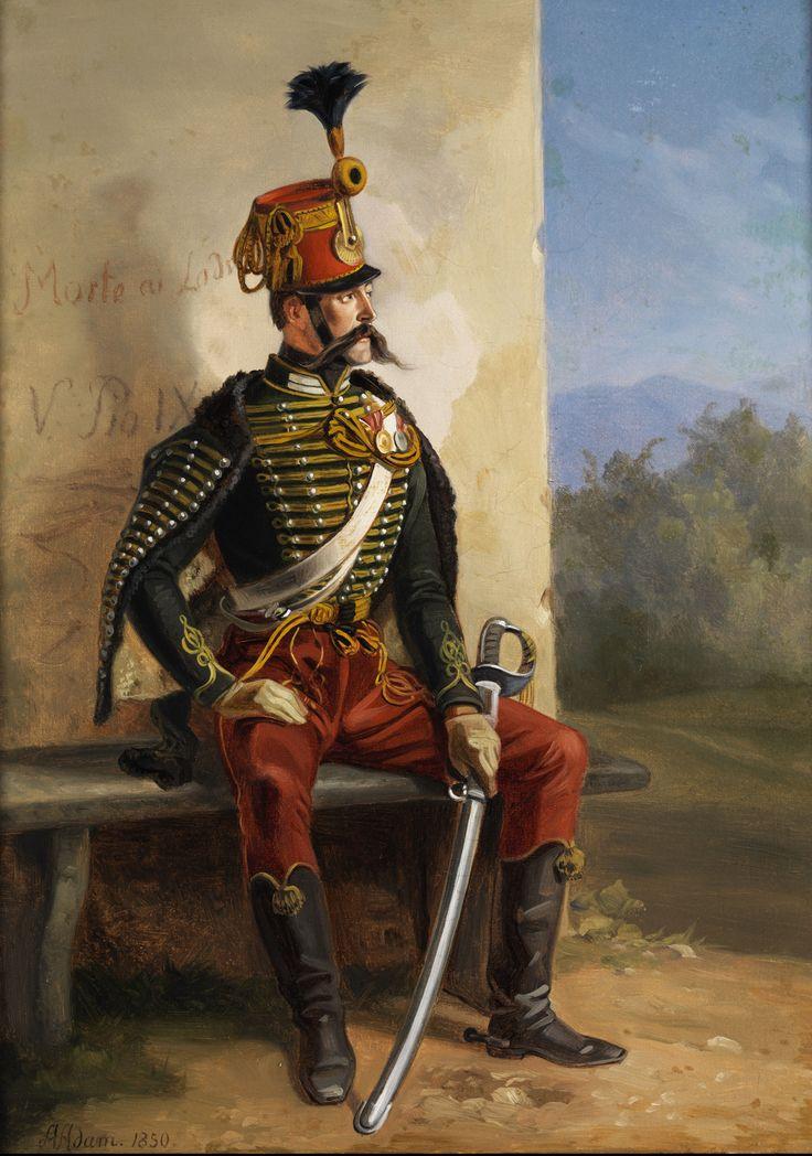 Austrian Hussar- by Albrecht Adam