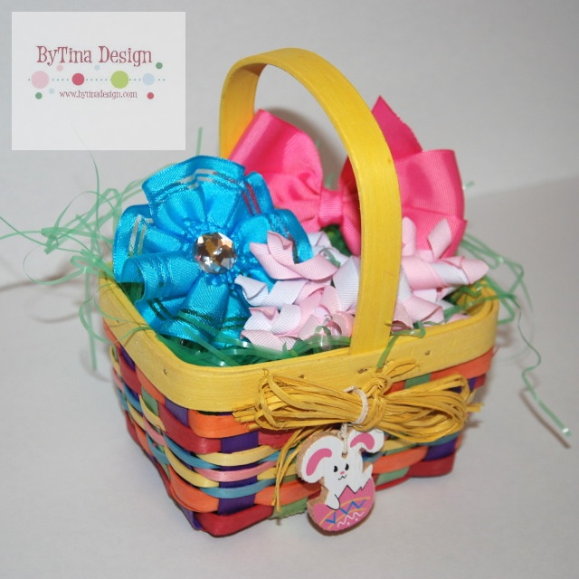 185 best baby easter baskets images on pinterest easter baskets hair bows easter basket from bytina design order yours now comes with 1 flower negle Image collections