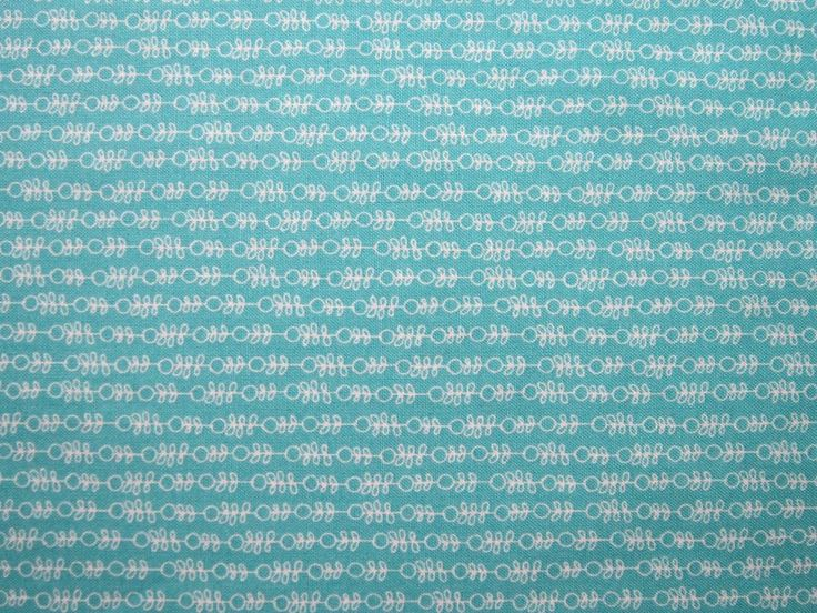 Turquoise Abstract Stripe Fabric Freedom 100% Cotton Patchwork Quilting Fat Qtrs