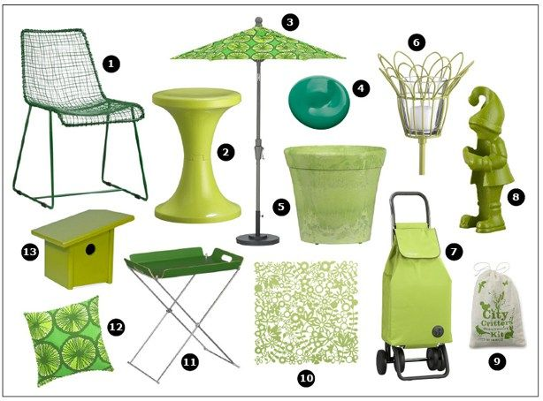 Share Tweet Pin Mail  What better day than St. Paddy's Day to roll out some cool green outdoor furniture and accessories that won't cost you a lot of green? Here are 13 fun things to usher in spring–12 and one … Read More...
