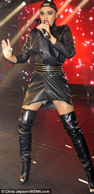 Kinky boots: Performing at the Heaven club in Charring Cross, London, Fleur East - runner-...