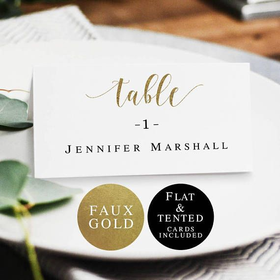 Gold Wedding Printable Name Cards Gold Place Card Template Etsy Wedding Name Tags Place Card Template Wedding Printables