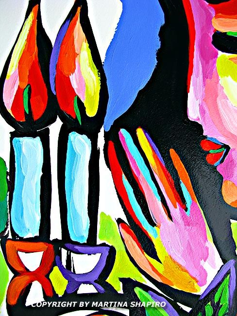 Shabbat Lights Jewish original paintings candles blessing by artist Martina  Shapiro  abstract still life 44 best Martina Shapiro images on Pinterest   Painting abstract  . Shabbat Candle Lighting Miami. Home Design Ideas