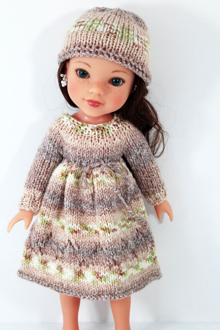 Knitted dress for Hearts for Hearts doll.