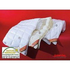 Антиаллергенное одеяло FAN Shlafgut Bambutex В набивке одеяла использованы волокна из бамбукового дерева, которые в сочетании с натуральными волокнами Ingeo отличаются мягкостью, выпуклой поверхностью, антибактериальным воздействием и очень высокой степенью впитываемости.