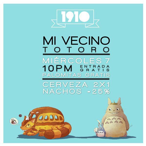Cartel elaborado por Fortuna Estudio para el bar 1910 en León Gto. #bar #poster #fortuna #estudio #fortunaestudio #totoro #anime #movie #typography #1910 #mexican