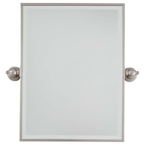 Exceptional Brushed Nickel Mirror