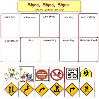 1000+ images about Teaching Community Signs on Pinterest | Traffic ...