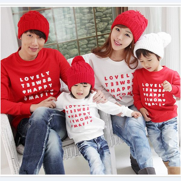 Korea style child balenciaga trainer long sleeve T shirt tops mom dad boy girl osoroi parent-child matching mom dad son daughter parent-child clothes kids clothes kids spring