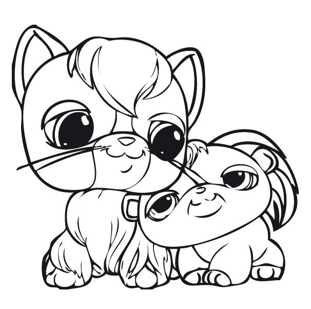 lps coloring pages kitten - photo#23