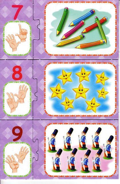 * Puzzelen, cijfers, vingers... 3-4