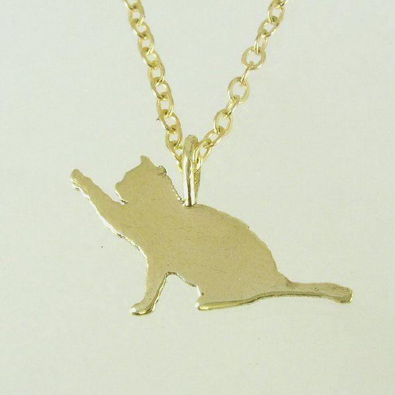 14k Solid Gold Necklace Cat Pendant Cat Inscription Cat Of Gold Chain My Love Cat Gold Cat N 14k Solid Gold Necklace Cat Necklace Gold Solid Gold Necklace