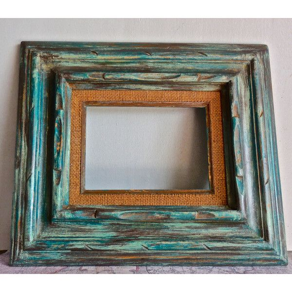 """Shabby Chic Open Picture Frame Set/Boho Vintage Shabby Chic Deor/Vintage Ornate Solid Wood Carved/Distressed/Upcycled/5""""x7""""/ON-SALE ($55) found on Polyvore"""