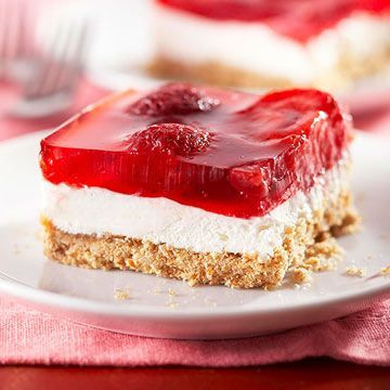 strawberry+pretzel+syrup | Strawberry Pretzel Salad | Midwest Living