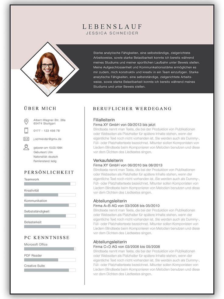 Bewerbungsvorlage, Bewerbung, Vorlage, Bewerbungsschreiben, Kreativ Bewerbung, Bewerbungsvorlagen, Vorlage für Bewerbung – Sarah Ehrhardt