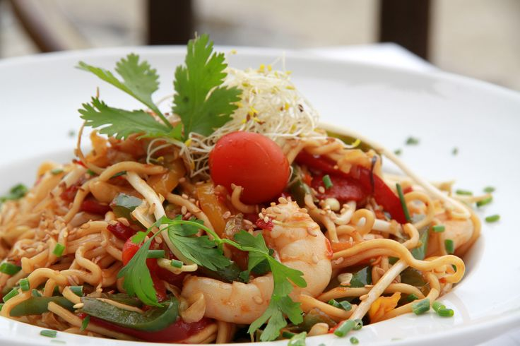 Wok noodles at Luna Beach Club in Benalmadena Costa (near Sunset Beach Club hotel)
