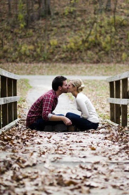 Alive and Livin': Fall Engagement Picture Ideas (No kiss, but a butterfly