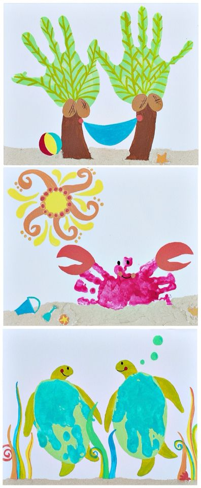 Handprint art that's perfect for the summer season!