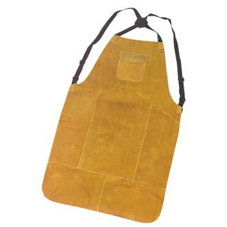 Portwest n/a Cowhide Leather Welding Apron One size. 100% split cowhide leather with Kevlar stitching. Protects the torso and upper legs when welding. With adjustable straps and quick-release buckle for a secure fit. http://www.MightGet.com/january-2017-13/portwest-n-a-cowhide-leather-welding-apron.asp