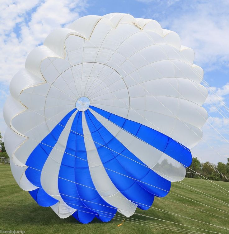 Details about National Phantom 26ft Round reserve skydiving parachute canopy  shoptheworld