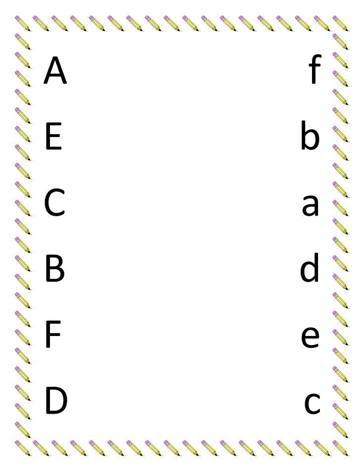 Full Pages Preschool Printable Worksheet : Image detail for preschool matching worksheets upper